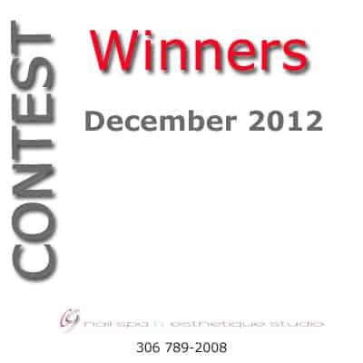 December Contest Winners Announced – CG Nail Salon Regina & Esthetique Studio