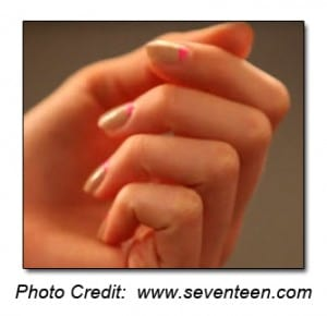 french manicure nails regina - reverse french manicure nails regina - neutral with pink cuticle