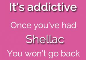 Shellac Nails are addictive, available at cg nail salon regina