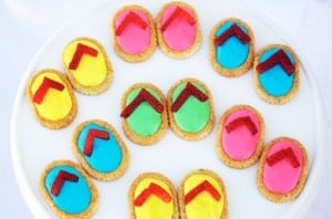nail polish party flip flop snacks