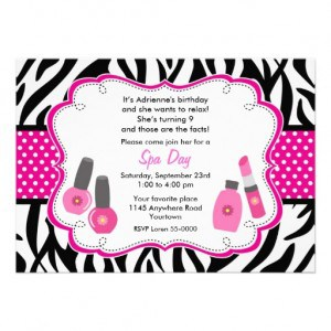 Nail Polish birthday party ideas invitations CG Nail Salon Regina