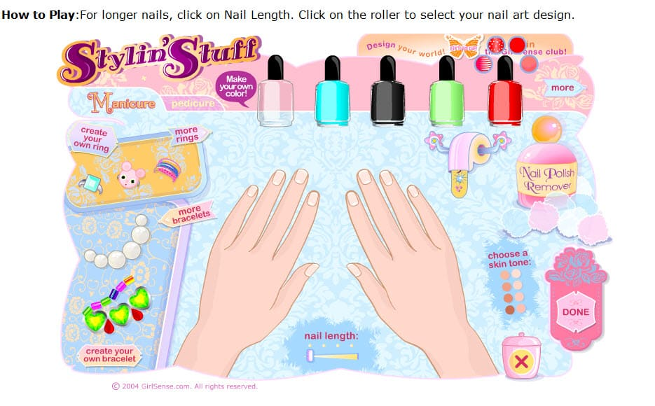 Nail Designs Games For Girls Free Nail Designs Hair Styles