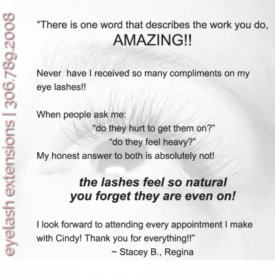 eyelash extensions review stacey b