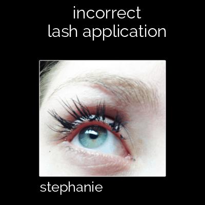 Do Eyelash Extensions damage natural lashes?   INCORRECT LASH APPLICATION.