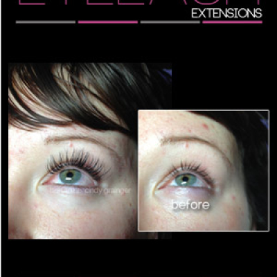 eyelash extensions before and after Courtney November 2014