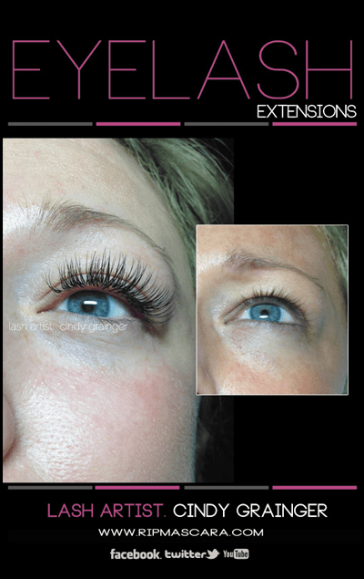 Dana before and after eyelash extensions, Regina Saskatchewan