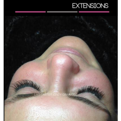 eyelash extensions before and after lynn bob closed eye december 2014