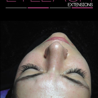 eyelash extensions before and after melissa with closed eye december 13 2014