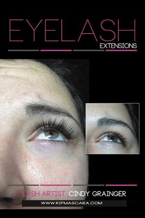 eyelash extensions before and after melissa with open eye december 13 2014