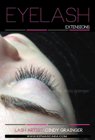 Kate from Regina with eyelash extensions closed eye january 2015
