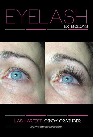 Carol D., before and after Eyelash Extensions Regina