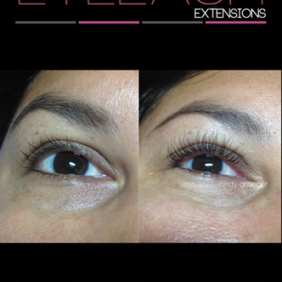 Jennifer before and after eyelash extensions january 22 2015