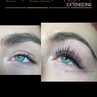 Eyelash Extensions Before and After Picture of McKenzi open eye