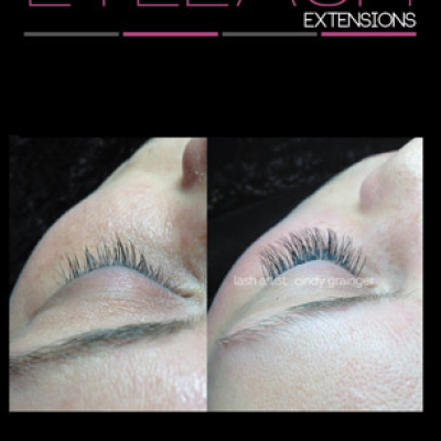 Eyelash Extenions before and after for Bride Kaylin