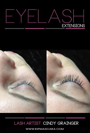 Kaylin from Regina with Eyelash Extensions Before and After