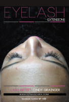 Synthetic Eyelash Extensions Regina | Kayleigh with closed eye