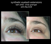 Callie from Regina with synthetic eyelash extensions regina callie before and after open eye
