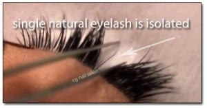 Eyelash Extensions Regina A single lash is isloate