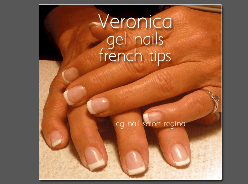 gel nails regina veronica with gel nails and french tips - CG Nail ...