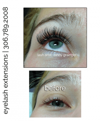 Eyelash Extensions Regina - Keisha before and after