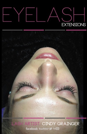 Stacey B reviews eyelash extensions picture of closed eyes