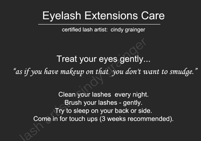 Eyelash Extensions Care 101