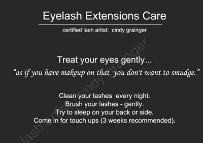 Eyelash Extensions Care 101