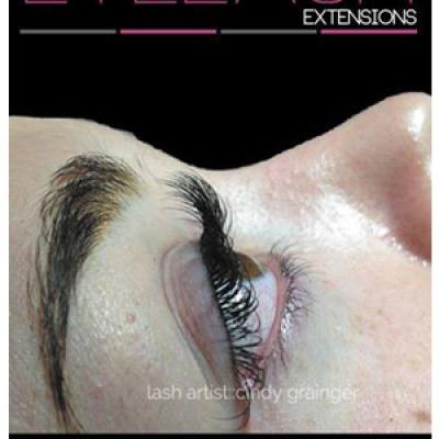 eyelash extensions before and after client side view open eye december 2014