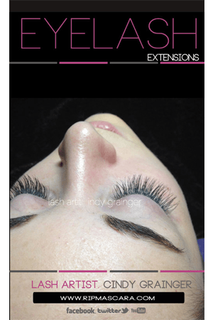 eyelash extensions before and after kate closed eye november 2014