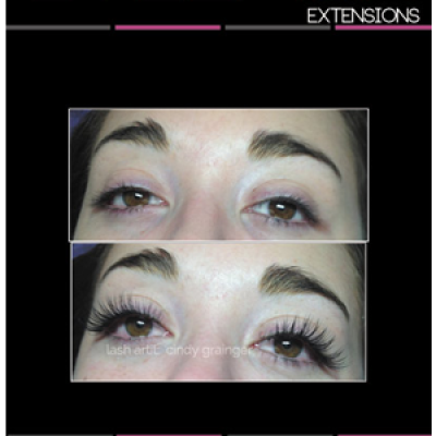 eyelash extensions before and after kate open eye november 2014