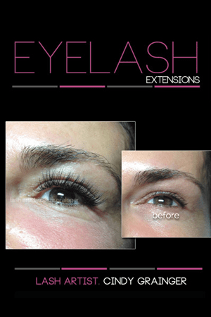 eyelash extensions before and after lynn bob open eye december 2014