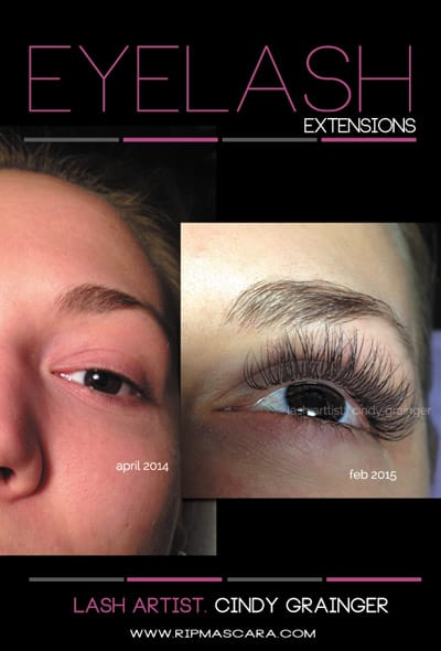 Before After Eyelash Extensions Stacey B from Regina
