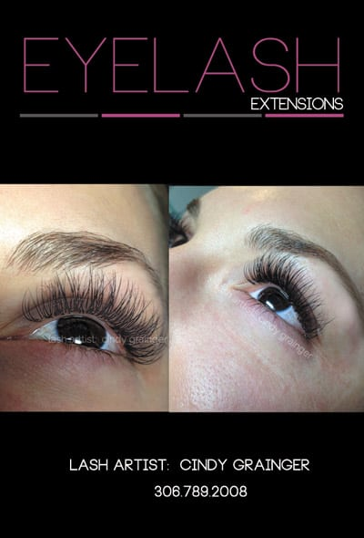 Stacey B from Regina with eyelash extensions.