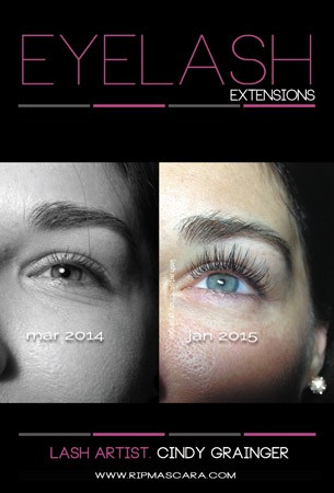 Lyndsay from Regina before and after Eyelash Extensions