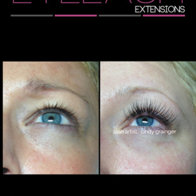Dana before and after Eyelash Extensions January 215