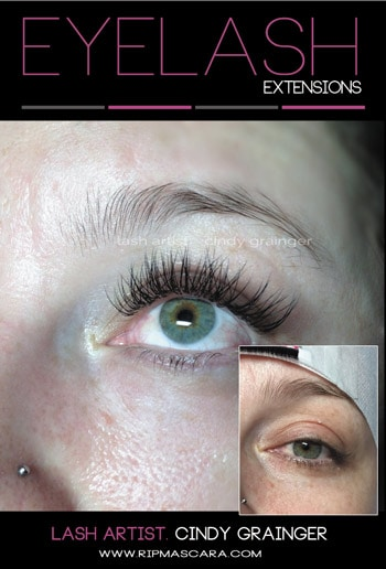 Brandi from Regina before and after Eyelash Extensions