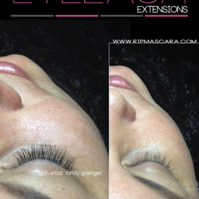 Before and After Eyelash Extensions Jennifer from Regina January 22 2015