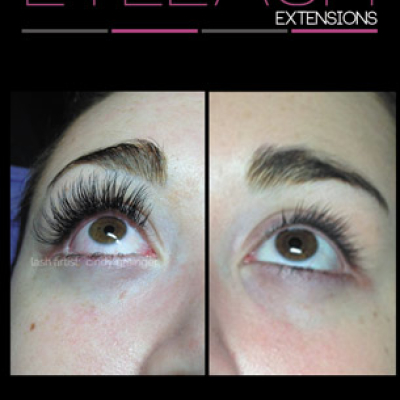 Eyelash Extensions Regina before and after Kate from Regina January 2015