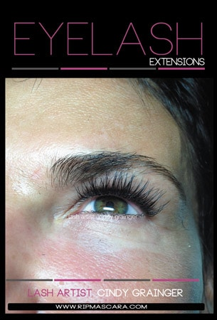 Eyelash Extensions after 3 week Lash Fill