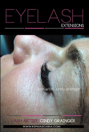 Lynn B with Eyelash Extensions Side View